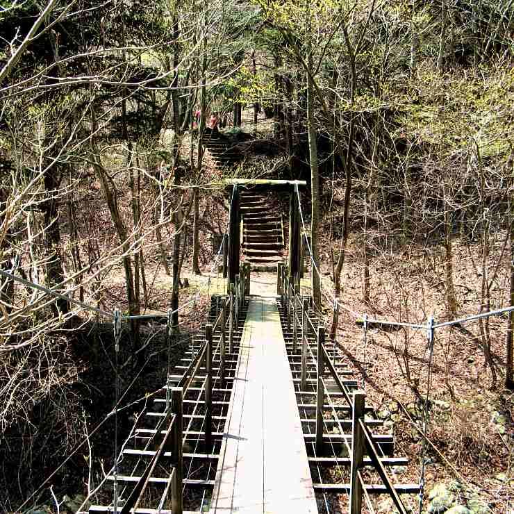 東海自然歩道「吊り橋」